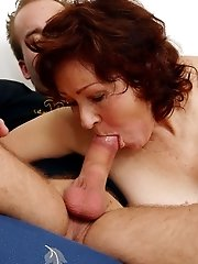Mature Sofia fucks a young cock  - picture gallery