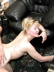 Mature lady in hardcore action