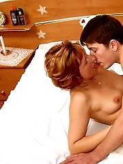 MILF's young lover was invited to give a drive-test to her new bed and she was happy to spread her legs for his huge dick