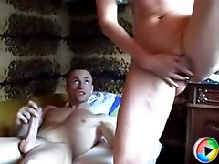 Cock starved mature whore fucks a lucky young guy in bed